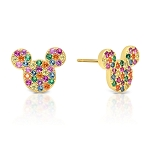 Disney Crislu Earrings - Mickey Mouse Rainbow Icon