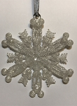 Disney Christmas Ornament - Mickey Mouse Snowflake - Frosted