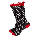 Disney Knee Socks for Women - Minnie Mouse with Bow and Polka Dots