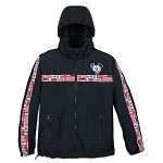 Disney Windbreaker Jacket for Men - Mickey Mouse Epcot - Black