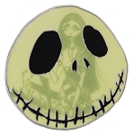 Disney Nightmare Before Christmas Pin - Jack and Sally Face