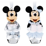 Disney Christmas Ornament Bell Set - Mickey and Minnie Celebration