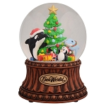 Sea World Snow Globe - Christmas Tree - Shamu and Friends - Musical