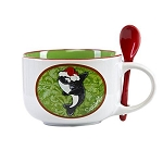 Sea World Coffee Mug - Holiday Shamu Latte Mug with Spoon