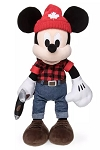 Disney World Showcase Plush - Lumberjack Mickey Mouse - Canada