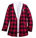 Disney Jacket for Women - Holiday Mickey Mouse Sherpa Cardigan