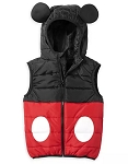 Disney Puffy Vest for Boys - Mickey Mouse with 3D Ears