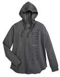 Disney Hooded Pullover Sweatshirt for Women - Star Wars Logo - Gray