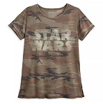 Disney T-Shirt for Women - Star Wars Logo Camouflage
