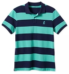 Disney Polo Shirt for Men - Mickey Mouse Pique Cotton - Striped