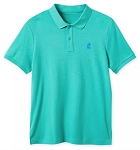 Disney Polo Shirt for Men - Mickey Mouse Pique Cotton - Lake Green