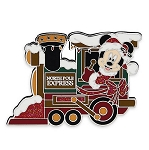 Disney Holiday Pin - Santa Mickey Mouse Train Locomotive
