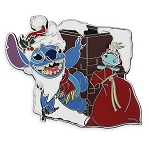 Disney Holiday Pin - Santa Stitch Hangs from Chimney