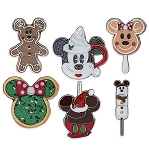 Disney Holiday Pin Set - Disney Parks Food Icons - Set of 6