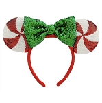 Disney Holiday Ears Headband - Minnie Mouse Peppermint Candy