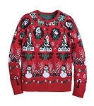 Disney Sweater for Women - Holiday Mickey and Minnie Light Up - Red