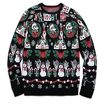Disney Sweater for Men - Holiday Mickey Mouse Light-Up - Black