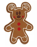 Disney Holiday Pouch - Mickey Mouse Gingerbread Cookie