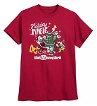 Disney Shirt for Adults - Mickey and Friends - Holiday Magic - Red