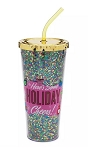 Disney Holiday Tumbler with Straw - Mickey Mouse - Mid-Century Brights