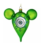 Disney Mickey Ears Icon Ornament - Mickey Mouse Mid-Century - Green