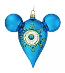 Disney Mickey Ears Icon Ornament - Mickey Mouse Mid-Century - Blue