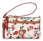 Disney Dooney & Bourke Bag - Mickey and Minnie Mouse Floral - Pouch