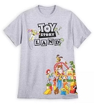 Disney Shirt for Men - Toy Story Land - Walt Disney World - Gray