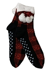 Disney Holiday Socks for Adults - Mickey Mouse Icons with Pom Poms