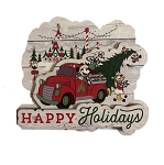 Disney Holiday Magnet - Happy Holidays - Mickey Mouse & Friends
