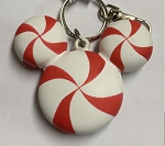 Disney Holiday Keychain - Mickey Mouse Peppermint