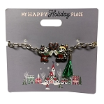 Disney Holiday Bracelet - Mickey and Minnie Mouse with Heart
