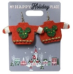 Disney Dangle Earrings - Holiday Mickey Mouse Sweater