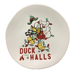 Disney Dessert Plate - Holiday Donald Duck - Duck the Halls