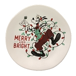 Disney Dessert Plate - Holiday Goofy - Merry and Bright