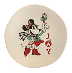 Disney Dessert Plate - Holiday Minnie - Joy