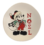 Disney Dessert Plate - Holiday Mickey - Noel