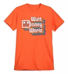 Disney Adult Shirt - Walt Disney World Stacked Logo - Orange