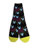 Disney Socks for Adults - Blue Mickey Mouse Icons - Black