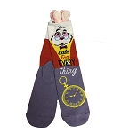 Disney Socks for Adults - White Rabbit - Late for Everything