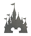 Disney Window Decal - Cinderella Castle with Mickey - Disney World