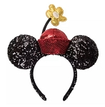 Disney Ears Headband - Minnie Sequined with Flower Pot Hat