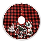 Disney Christmas Tree Skirt - Farmhouse - Mickey and Minnie Plaid