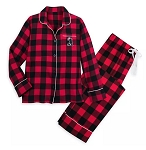 Disney Pajama Set for Women - Holiday Minnie Mouse Plaid