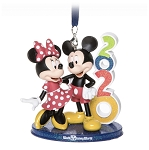 Disney Figure Ornament - 2020 Mickey and Minnie - Walt Disney World