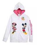 Disney Zip Up Hoodie for Girls - Mickey & Minnie - 2020 Walt Disney World