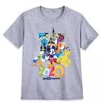 Disney T-Shirt for Boys - 2020 Walt Disney World - Mickey & Friends - Gray
