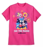 Disney T-Shirt for Adults - 2020 Walt Disney World - Mickey & Minnie - Pink