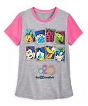 Disney Shirt for Girls - 2020 Walt Disney World - Gray and Pink