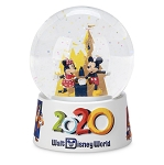 Disney Snow Globe - 2020 Mickey and Minnie Mouse - Resin